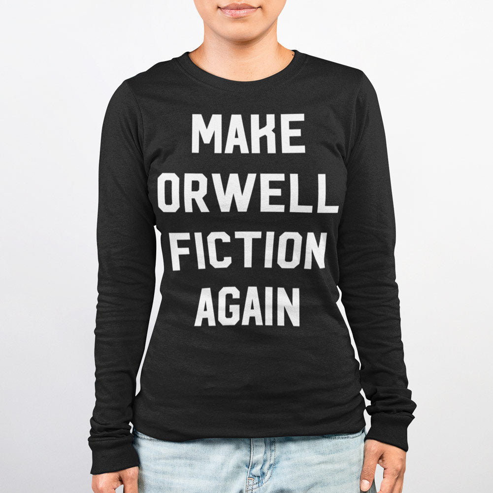 Make Orwell Fiction Again Unisex Fine Jersey Long Sleeve T Shirt
