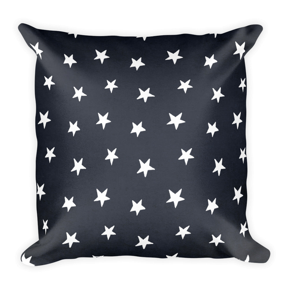 Colonial Stars Navy Blue Square Throw Pillow Liberty Maniacs