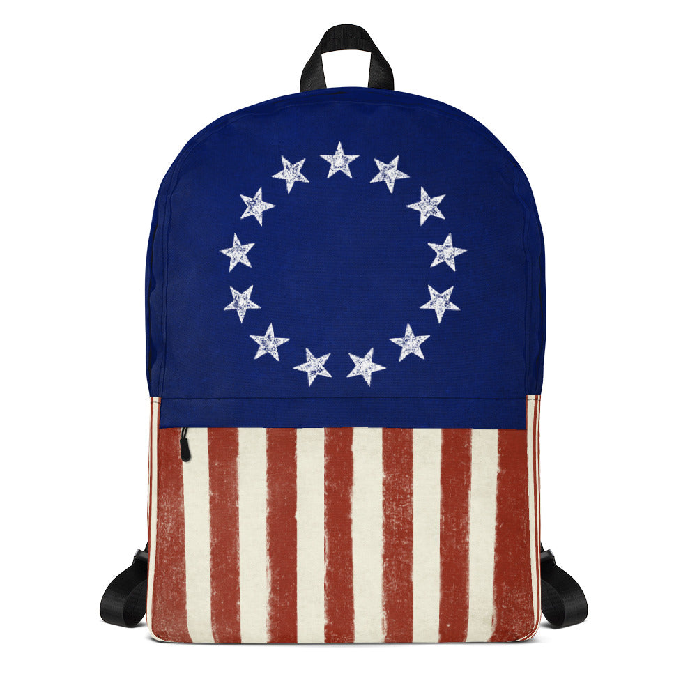 Backpack liberty maniacs betsy ross 13 stars flag backpack publicscrutiny Choice Image