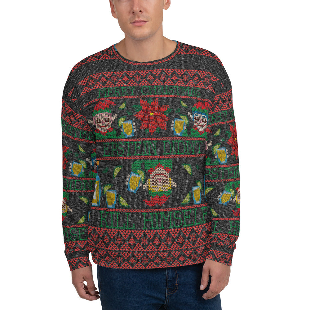 Epstein Didn\u0027t Kill Himself Ugly Christmas Sweatshirt