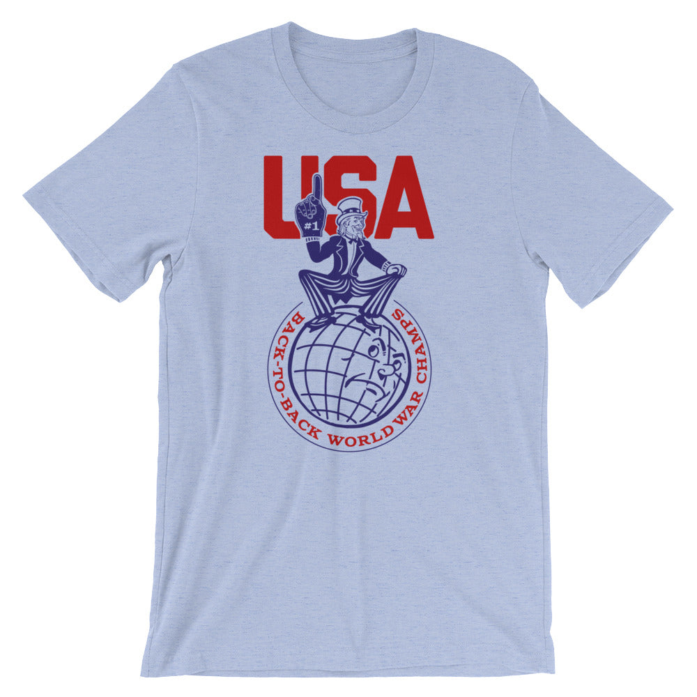 816fe84fe USA Back-To-Back World War Champs T-Shirt - Liberty Maniacs