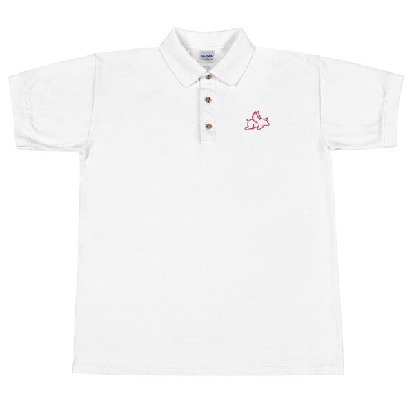 bf9daf31bb6 When Pigs Fly Embroidered Polo Shirt - Liberty Maniacs