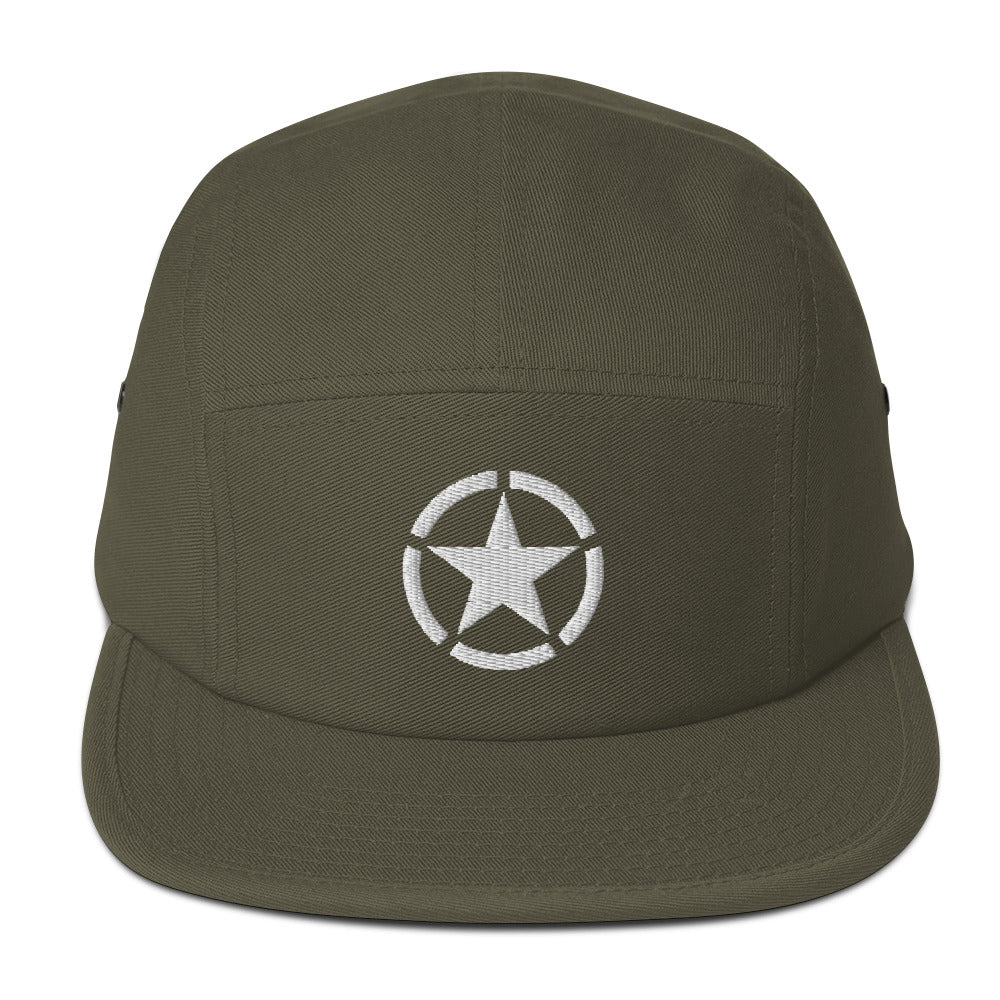 Sun Hat Army Military Green Cotton New WW2 Star Baseball Cap Embroidered