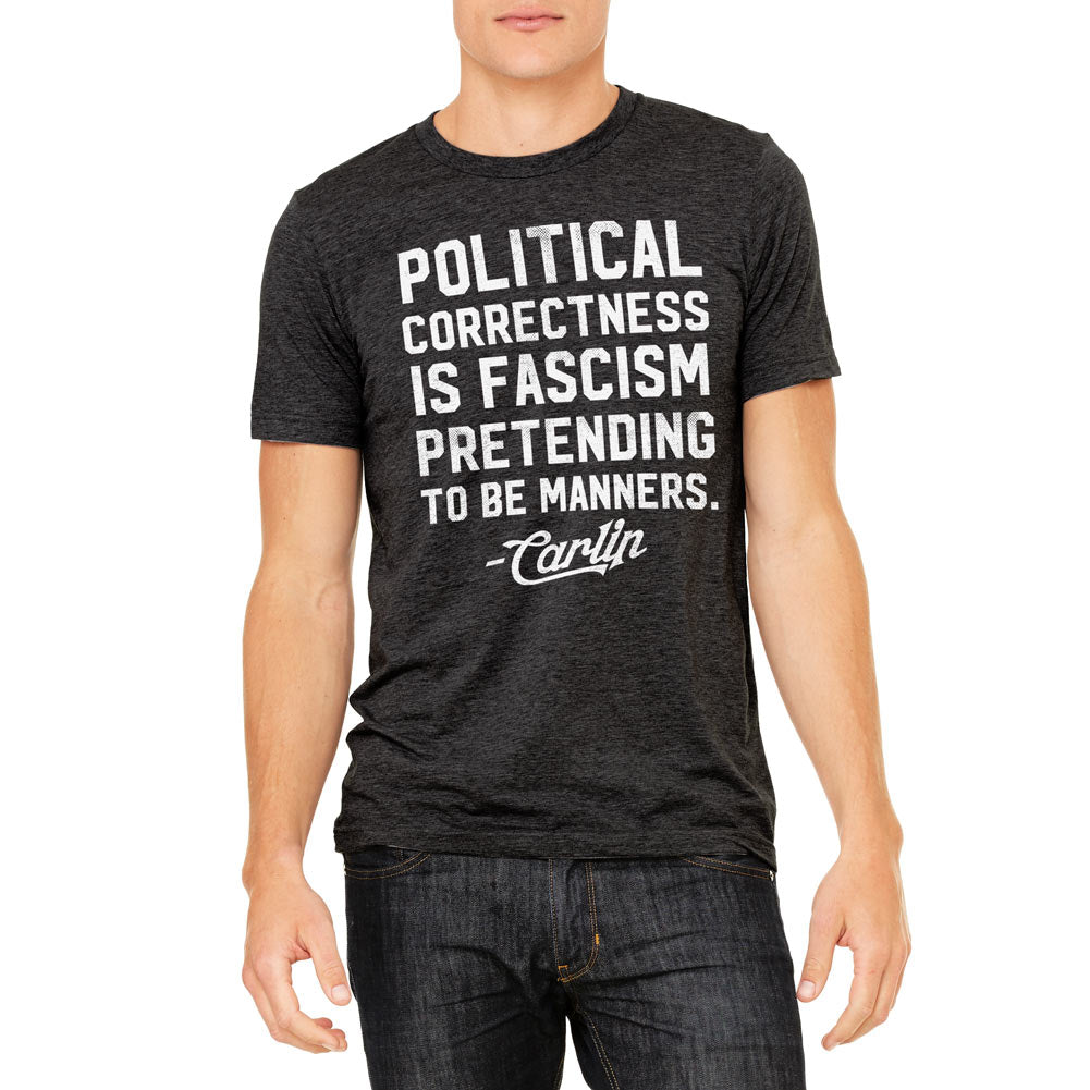 george carlin political correctness quote tri blend t shirt