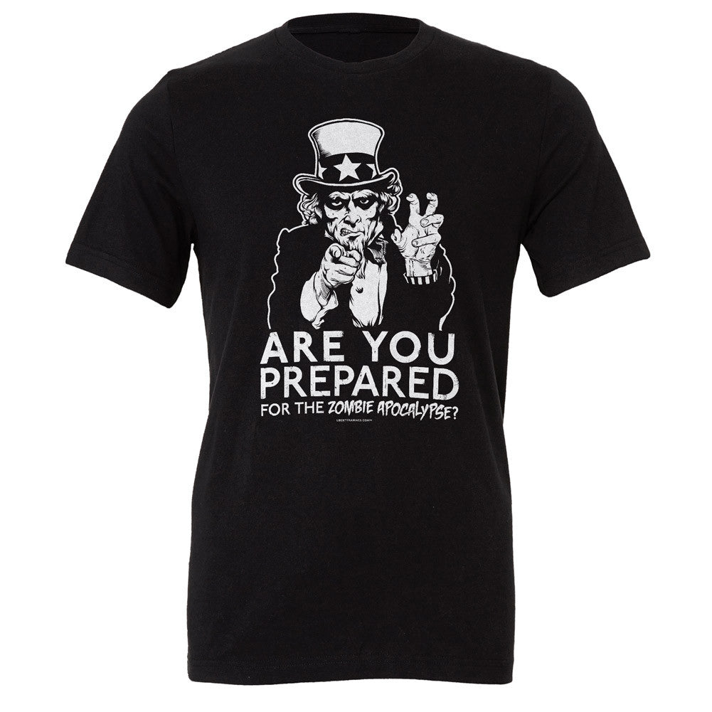 11ae80c4 Are You Prepared for the Zombie Apocalypse Uncle Sam T-Shirt