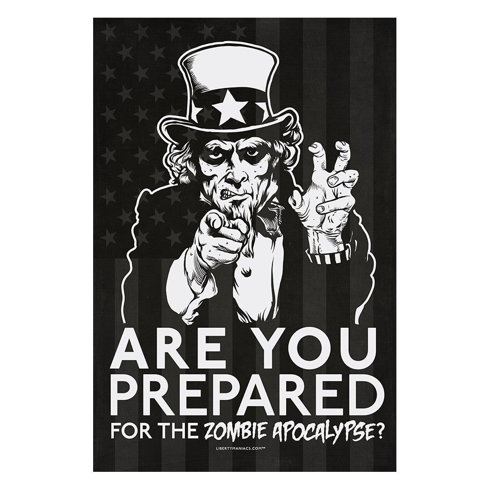 zombie uncle sam poster liberty maniacs