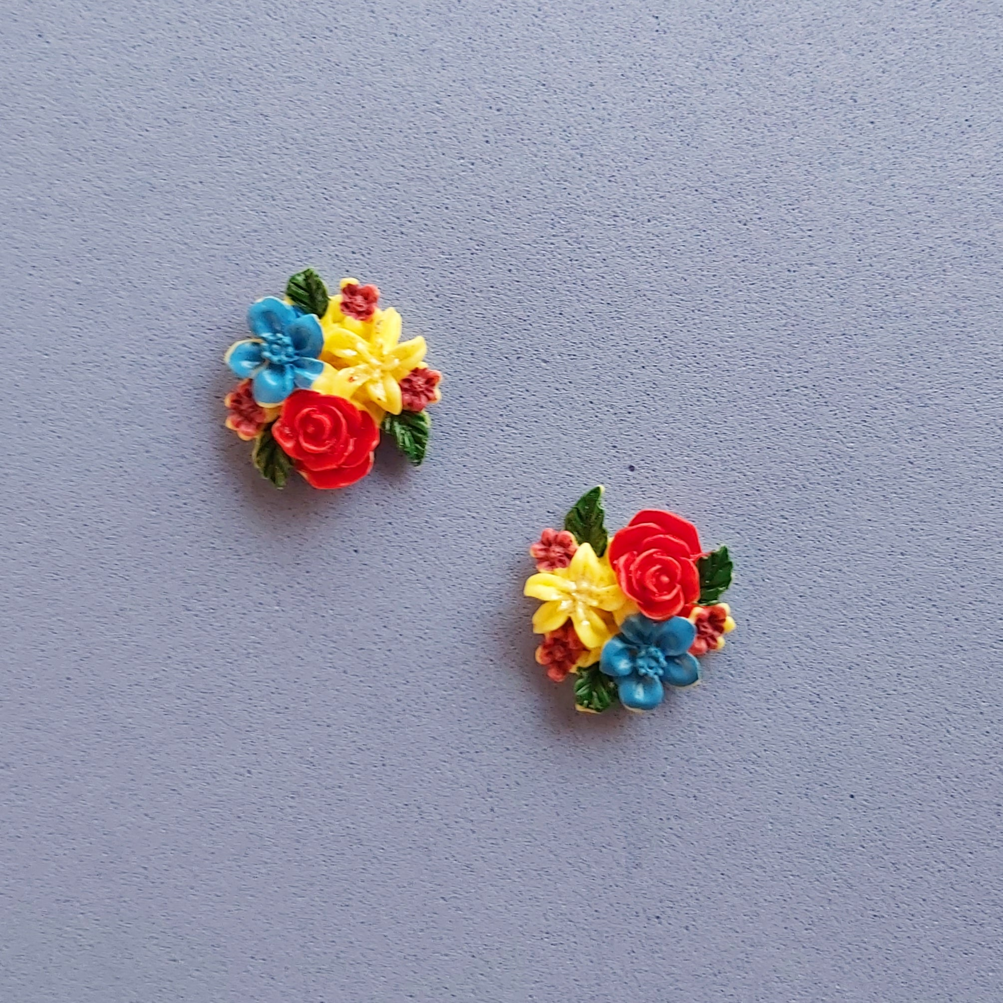 Vintage Floral Bouquet Earrings