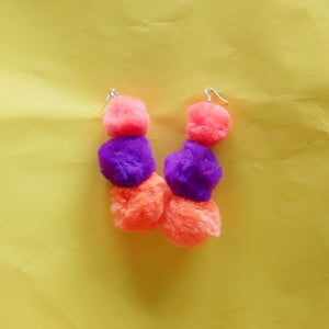 Fluff ball earrings