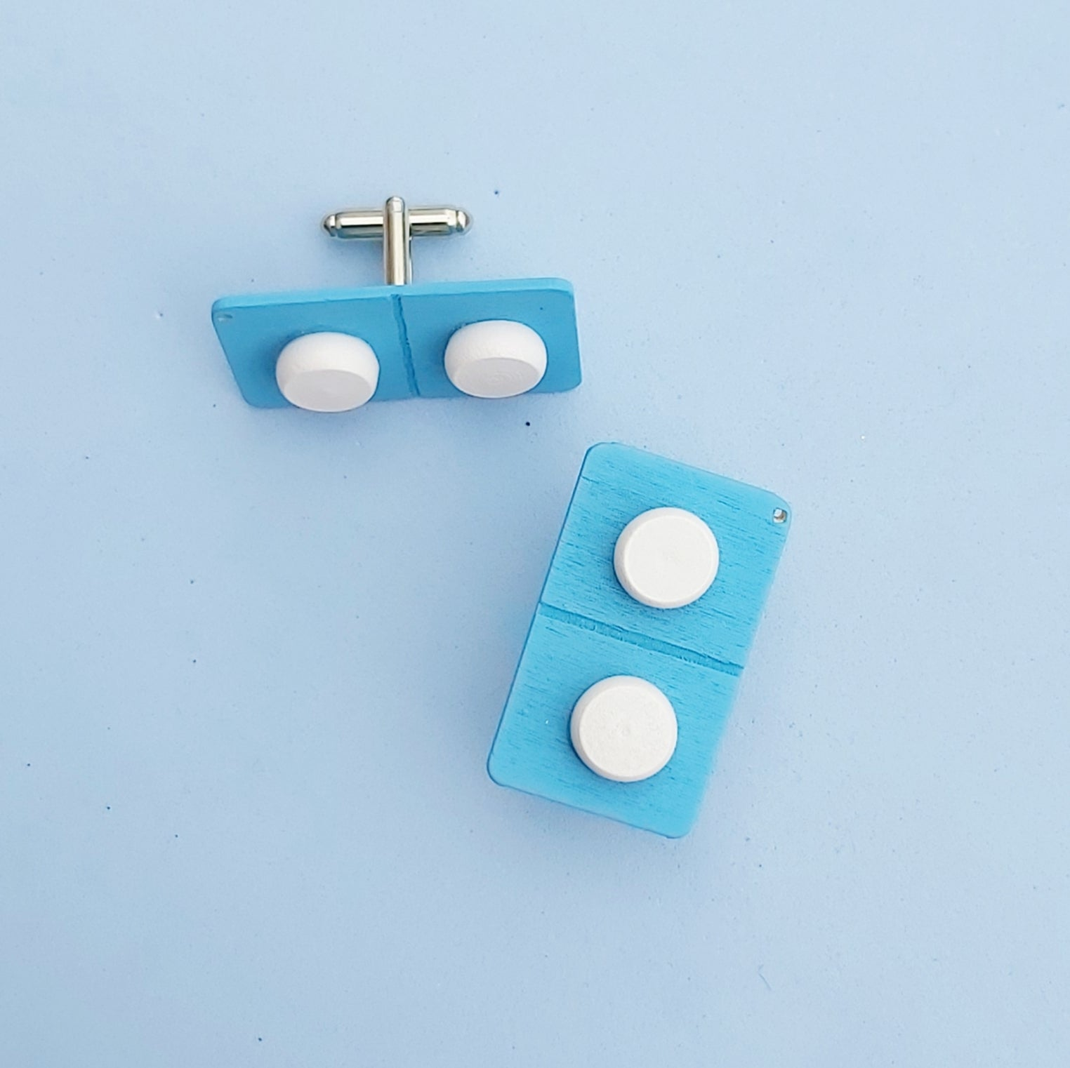 Pill packet cufflinks