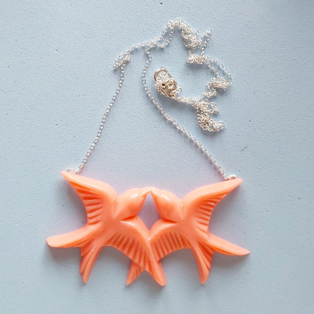 Coral Swallows Necklace