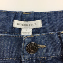 Load image into Gallery viewer, Boys Pumpkin Patch, blue denim jean shorts, adjustable waist, GUC, size 5
