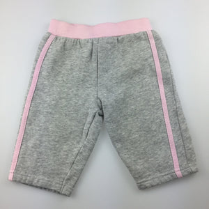 Girls Tiny Little Wonders, grey fleece lined track pants, EUC, size 00