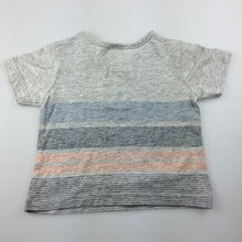 Load image into Gallery viewer, Boys Target, stripe cotton t-shirt, fish, EUC, size 00