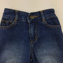 Load image into Gallery viewer, Boys Bonds, blue denim jeans, elasticated waist, GUC, size 1