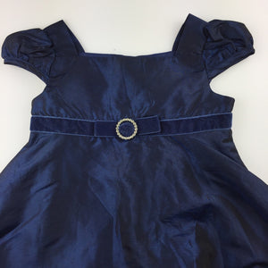 Girls Cherokee, navy satin effect formal / party dress, GUC, size 2