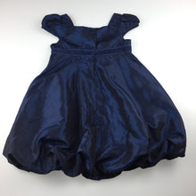 Load image into Gallery viewer, Girls Cherokee, navy satin effect formal / party dress, GUC, size 2