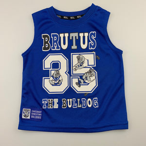 Unisex NRL Official, Canterbury Bulldogs Brutus t-shirt / top, EUC, size 1