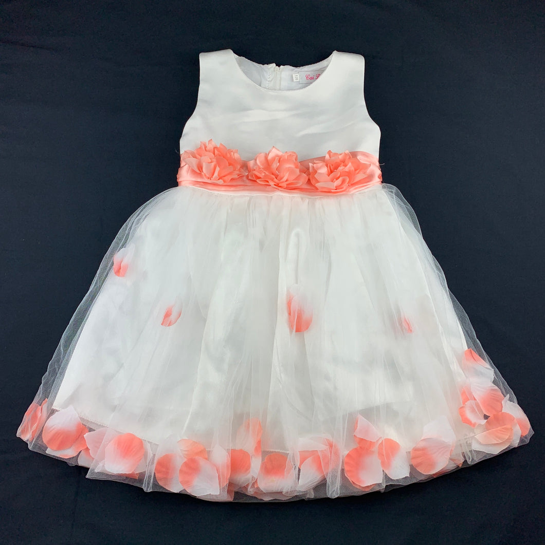 Girls Cai Le Ni, stunning formal / party / flower girl dress, L:60cm, Chest: 58cm, W: 54cm, GUC, size 4-5