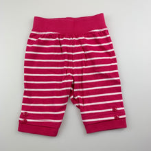 Load image into Gallery viewer, Girls H+T, pink soft cotton pants / bottoms, EUC, size 000