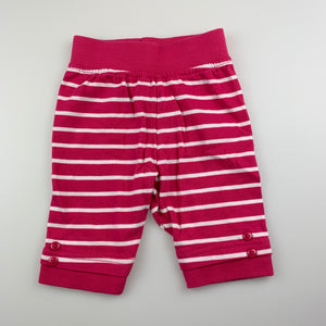 Girls H+T, pink soft cotton pants / bottoms, EUC, size 000