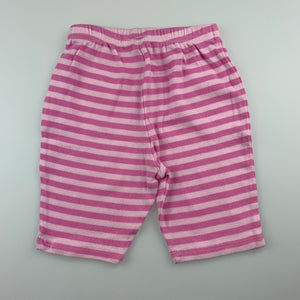 Girls H+T, pink soft cotton pants / bottoms, GUC, size 000