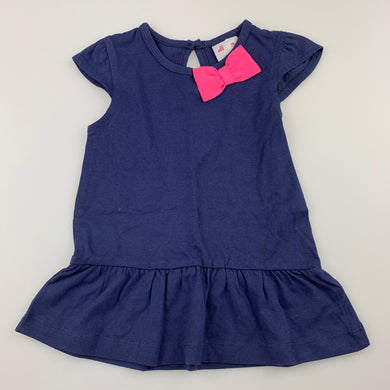 Girls All4Me, navy cotton casual dress, EUC, size 0