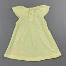 Load image into Gallery viewer, Girls Baby Baby, yellow soft feel lightweight top, GUC, size 00