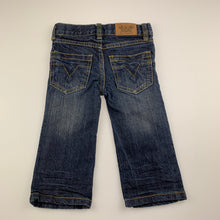 Load image into Gallery viewer, Boys Pumpkin Patch, dark stretch denim jeans, adjustable, GUC, size 1