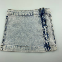 Load image into Gallery viewer, Girls Charlie & Me, vintage wash stretch denim skirt, adjustable, GUC, size 9