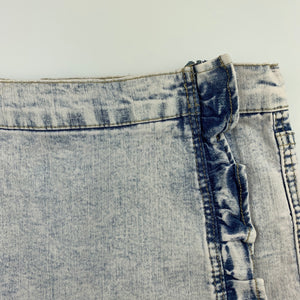 Girls Charlie & Me, vintage wash stretch denim skirt, adjustable, GUC, size 9