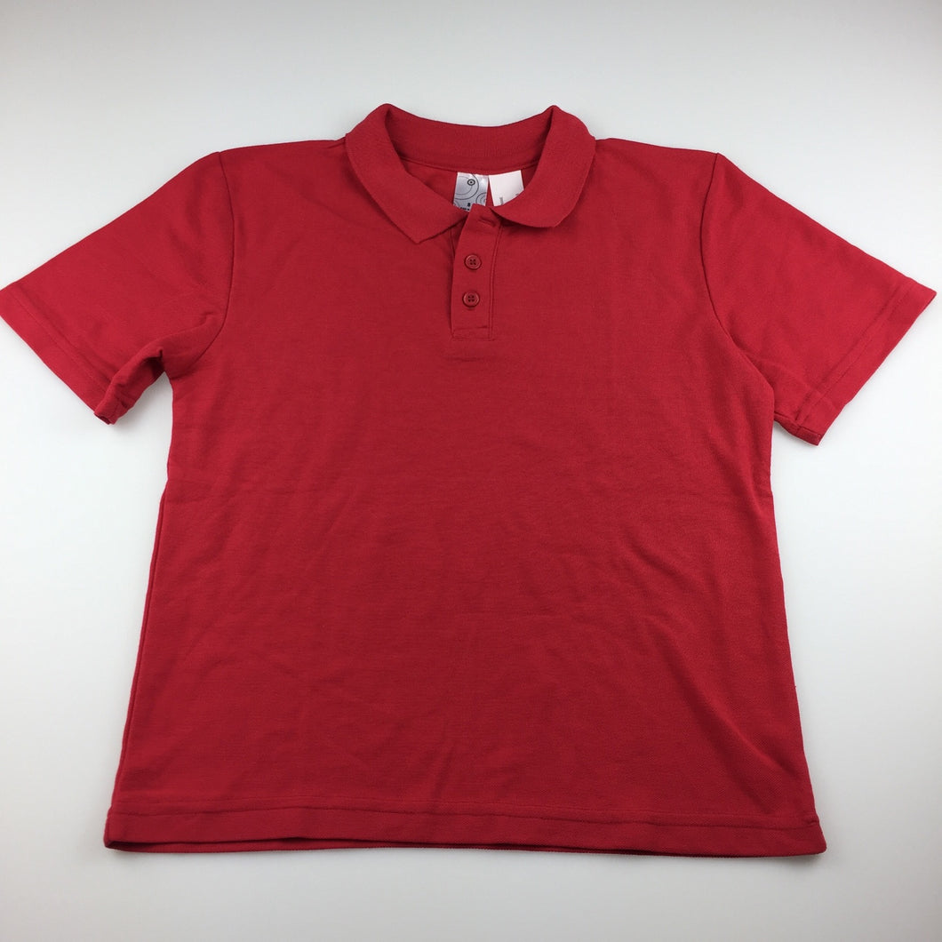 Unisex Target, red school polo shirt, EUC, size 8