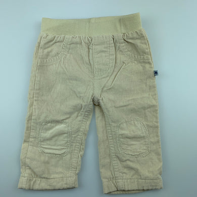 Boys Babaluno Baby, cotton lined corduroy pants, elasticated, EUC, size 00