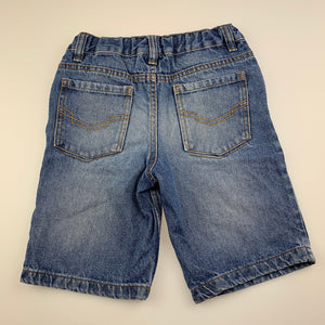 Boys H&T, blue denim jean shorts, adjustable, GUC, size 4