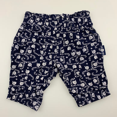 Girls Baby Baby, navy & white lightweight pants, birds, GUC, size 00