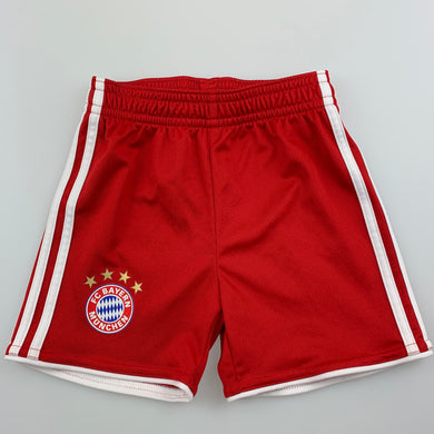 Boys Adidas, red Bayern Munchen football shorts, EUC, size 00