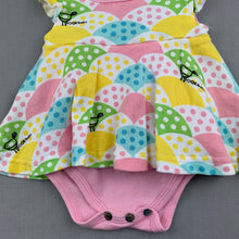 Load image into Gallery viewer, Girls Sooki Baby, soft cotton romper dress, birds, GUC, size 000