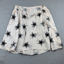Load image into Gallery viewer, Girls Gum, floaty flared sleeve top, stars, GUC, size 10