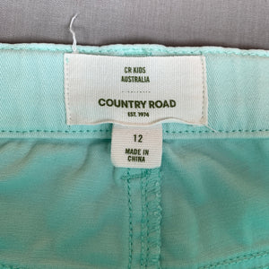 Girls Country Road, light blue stretch cotton pants, adjustable, Inside leg: 69cm, light marks on knees, FUC, size 12