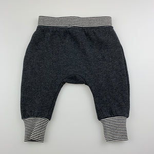 Unisex Cotton On Baby, grey fleece lined leggings / bottoms, GUC, size 00