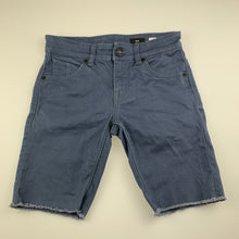 Load image into Gallery viewer, Boys Volcom, blue stretch cotton shorts, W: 64cm, EUC, size 10