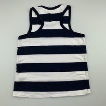 Load image into Gallery viewer, Girls Polo Fashion, navy & white cotton tank top, GUC, size 10