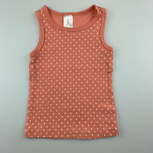 Load image into Gallery viewer, Girls Target, peaked ribbed singlet / t-shirt / top, GUC, size 1