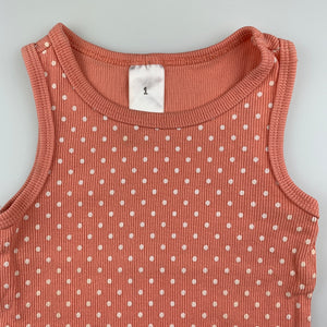 Girls Target, peaked ribbed singlet / t-shirt / top, GUC, size 1