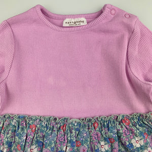 Girls Next, floral long sleeve dress, light mark on chest, FUC, size 0