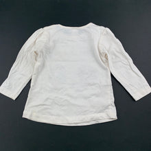 Load image into Gallery viewer, Girls Tiny Little Wonders, cream cotton long sleeve top, GUC, size 0
