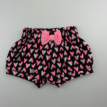 Load image into Gallery viewer, Girls Baby Berry, cotton shorts, elasticated, hearts, EUC, size 000