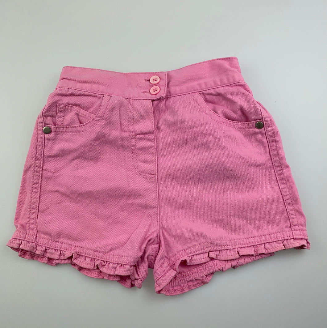 Girls Dymples, pink cotton shorts, elasticated, GUC, size 2