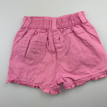 Load image into Gallery viewer, Girls Dymples, pink cotton shorts, elasticated, GUC, size 2