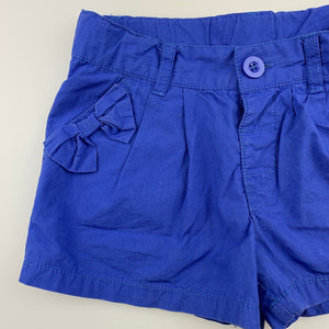 Girls Kids Stuff, blue lightweight cotton shorts, adjustable, GUC, size 5