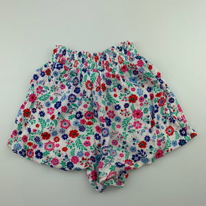 Girls Emerson, floral lightweight crinkle shorts, elasticated, GUC, size 2